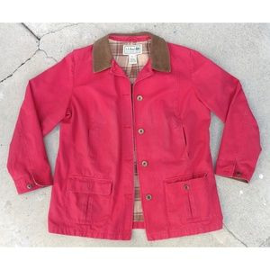 L.L. Bean Red Barn Field Farm Chore Coat Jacket
